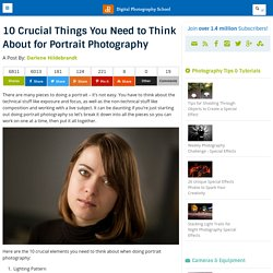 10 Crucial Things You Need to Think About for Portrait Photography