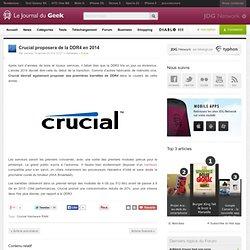 Crucial proposera de la DDR4 en 2014