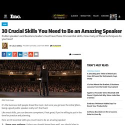 30 Crucial Skills You Need to Be an Amazing Speaker