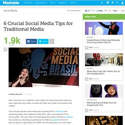 6 Crucial Social Media Tips for Traditional Media