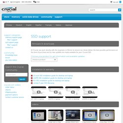 Crucial.com - SSD support