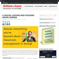 4 Crucial Lessons New Teachers Never Learned