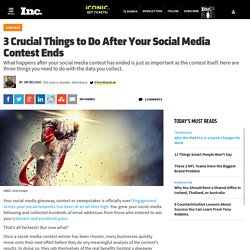 3 Crucial Things to Do After Your Social Media Contest Ends
