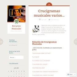 Crucigramas musicales varios…