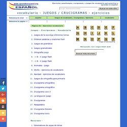 Crucigramas - Juegos - Pasatiempos - ejercicios de vocabulario