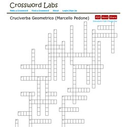 Cruciverba Geometrico (Marcello Pedone) - Crossword Labs