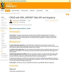 CRUD with SPA, ASP.NET Web API and Angular.js