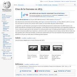 Crue de la Garonne en 1875