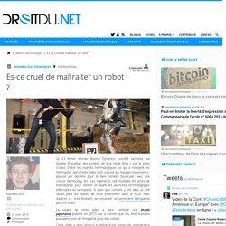 """Ampathie artificielle: """"Est-ce cruel de maltraiter un robot ?"""""""