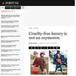 Cruelty-free luxury is not an oxymoron