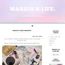 CRUELTY-FREE MAKEUP. – MARZIA'S LIFE.