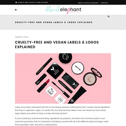 Cruelty-Free and Vegan Logos & Labels Explained