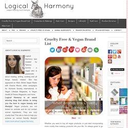 Cruelty Free & Vegan Brand List - Logical Harmony