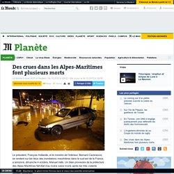 Des crues dans les Alpes-Maritimes font plusieurs morts