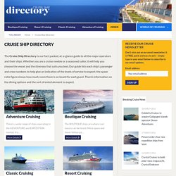 Cruise Ship Directory - World Of Cruising