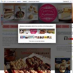 Crumbcake framboise chocolat : Il était une fois la pâtisserie