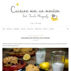 Crumbcake myrtilles citron