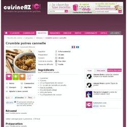 Recette de Crumble poires cannelle