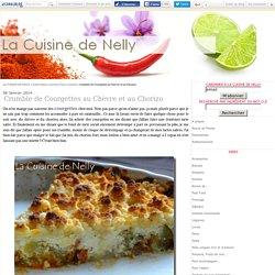 Crumble de Courgettes au Chèvre et au Chorizo - LA CUISINE DE NELLY