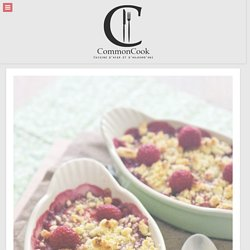 Crumble framboises et rhubarbe