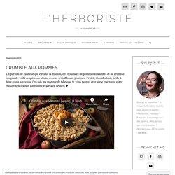 Crumble aux pommes - L'Herboriste, cuisine végétale