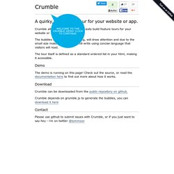 Crumble - jQuery Feature Tours