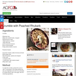 Crumble with Poached Rhubarb Recipe