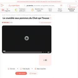 Le crumble aux pommes du Chat qui Tousse - Recette de cuisine Marmiton : une recette