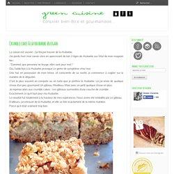 Crumble cake à la rhubarbe