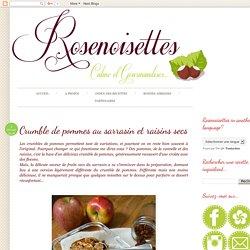Rosenoisettes, Calme et Gourmandises...: Crumble de pommes au sarrasin et raisins secs