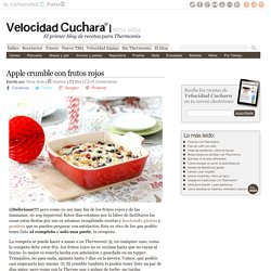 Apple crumble con frutos rojos