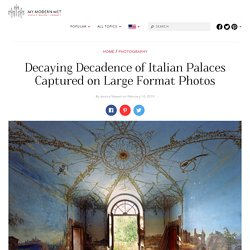 Crumbling Abandoned Villas Photographed with Large Format Camera