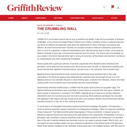 The crumbling wall - Griffith Review