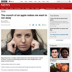The crunch of an apple makes me want to run away