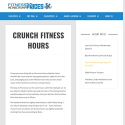 Fitness Membership Prices