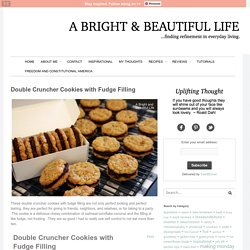 Double Cruncher Cookies with Fudge Filling - A Bright and Beautiful Life
