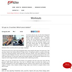 Sit ups vs. Crunches: Which one is better?, Workouts at fitking