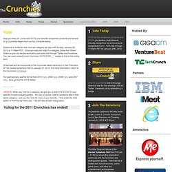 Crunchies 2011 - Vote now for your favorite companies, products and people