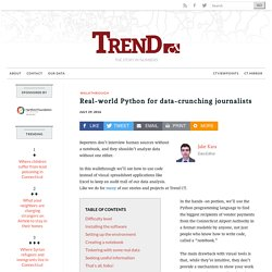 Real-world Python for data-crunching journalists