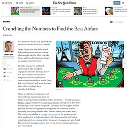 Crunching the Numbers to Find the Best Airfare