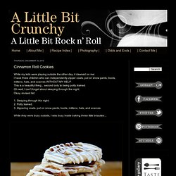 A Little Bit Crunchy A Little Bit Rock and Roll: Cinnamon Roll Cookies