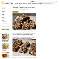 Crunchy Granola Bars Cookbook Recipe