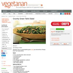 Crunchy Green Tahini Salad Recipe