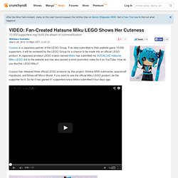 VIDEO: Fan-Created Hatsune Miku LEGO Shows Her Cuteness