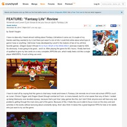 "FEATURE: ""Fantasy Life"" Review"
