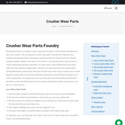 Cone crusher wear parts