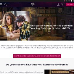 Escape Games: The Boredom-Crushing Classroom Tech Students NEED.
