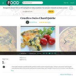 Crustless Swiss Chard Quiche Recipe
