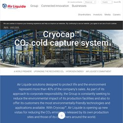 Cryocap™ : solution cryogénique de captage de CO₂ unique au monde