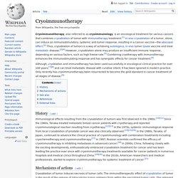 Cryoimmunotherapy